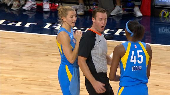 Ref walks into Ndour's hand and energetically ejects her