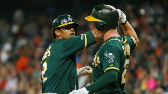 A's crush long ball in 21-7 rout of Astros