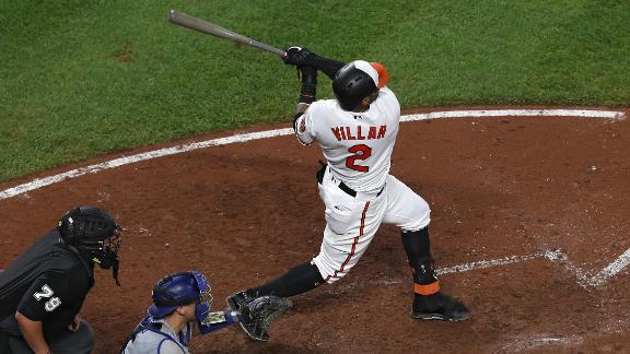 Villar admires MLB record setting HR