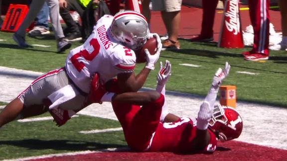 Dobbins sheds tackles for Buckeyes' TD