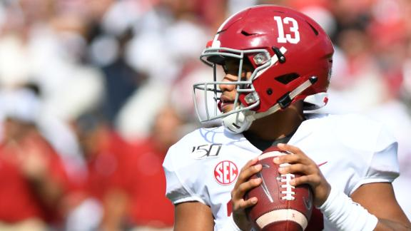Tua powers Alabama with 5 TDs