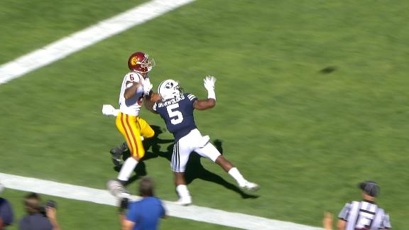 USC takes lead on reviewed touchdown