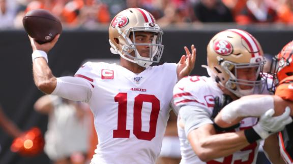 Garoppolo has himself a day with 3 TDs