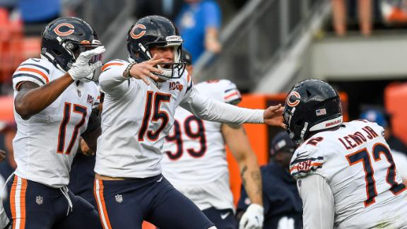 Trubisky's clutch pass, Pineiro's winning kick lift Bears past Broncos