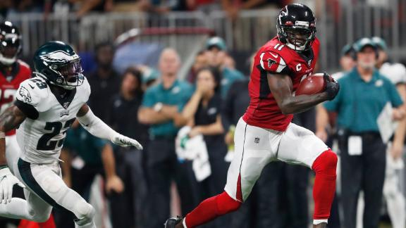 Julio jets to the house on long TD