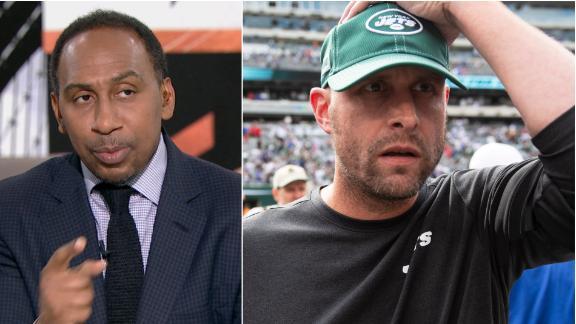 Stephen A. calls the Jets 'trash'