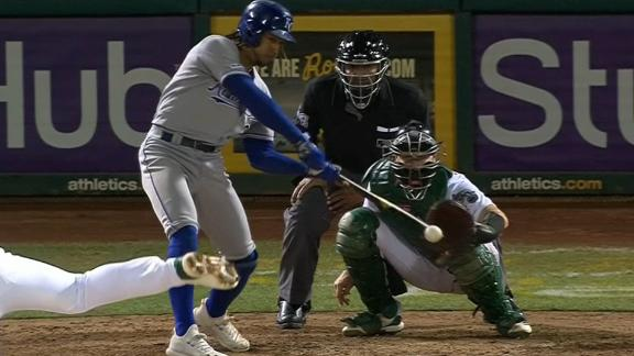 Royals score 2 in the 9th to secure win vs. Athletics