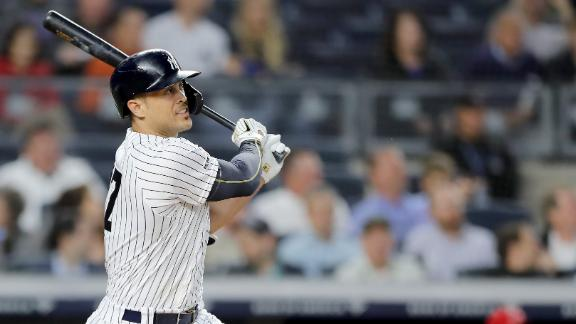 Stanton ropes double in return to lineup