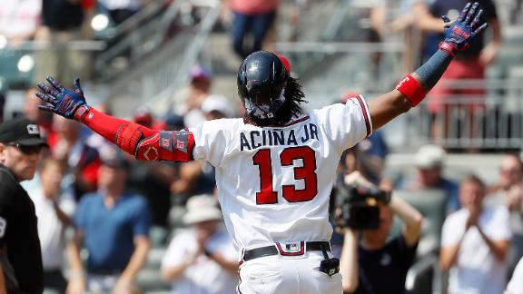 Acuna goes yard for 40th time this year