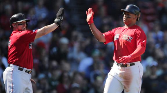 Devers reaches 110 RBIs in win over Giants
