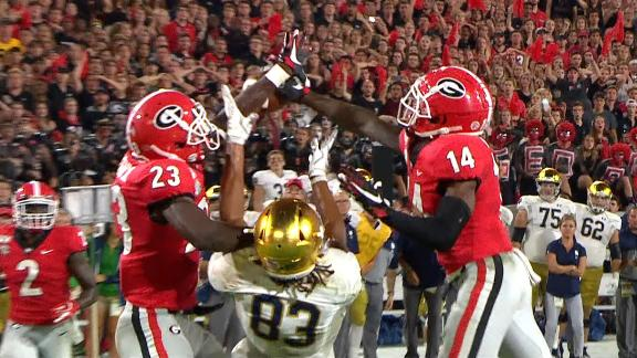 Georgia stops Book's fourth-down prayer to secure win