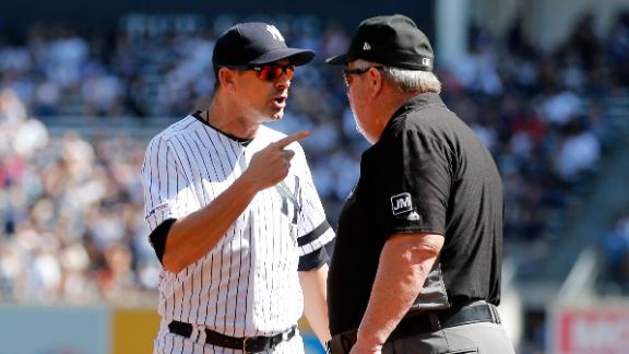 Boone ejected after arguing with umpire Joe West