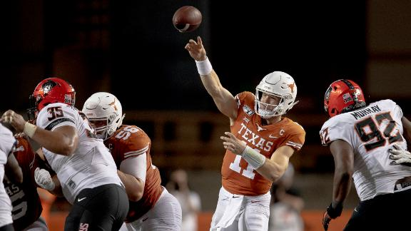 Ehlinger's four TDs lead Texas to tough win over Oklahoma State