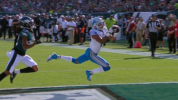 Jones lays out for Lions TD