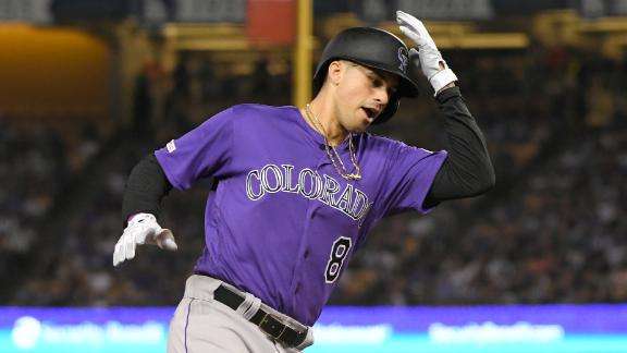 Rockies hit 2 homers in win vs. Dodgers