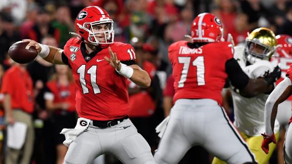 Fromm, Georgia fend off late Notre Dame push