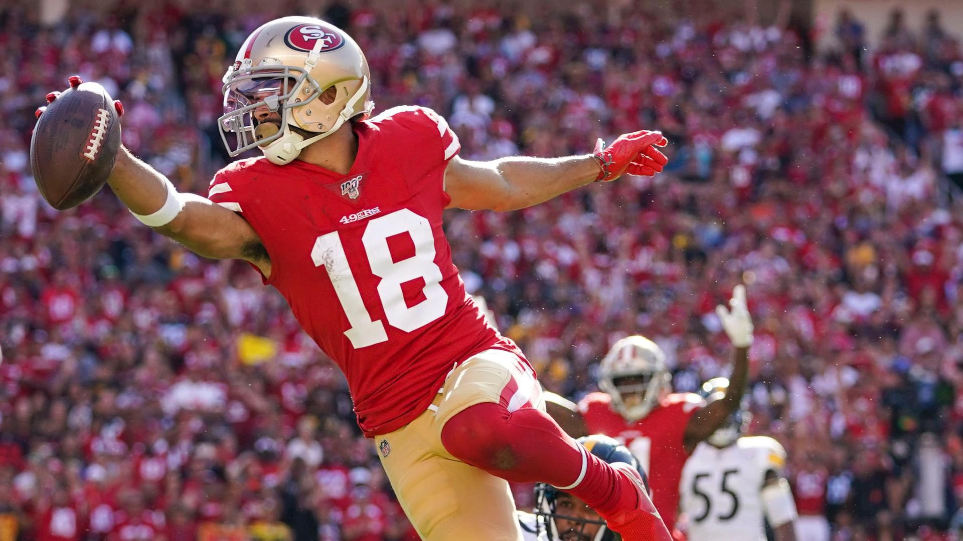 buy popular 6fcb2 7c9a7 Sloppy 49ers beat Steelers 24-20 on late Garoppolo TD pass ...