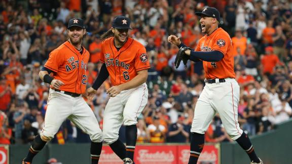 Astros celebrate after clinching AL West