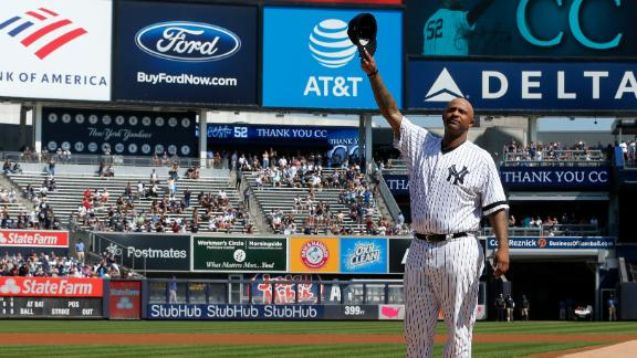 Yankees honor CC Sabathia