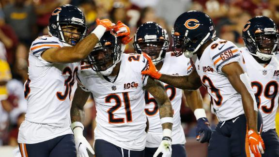 Bears' defense plagues Redskins with five turnovers on MNF