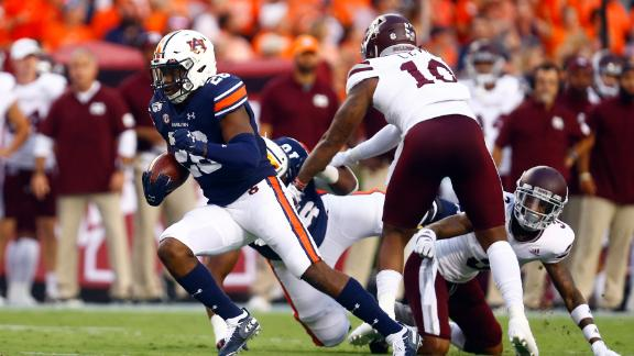 Auburn dominates ground game with 6 TDs