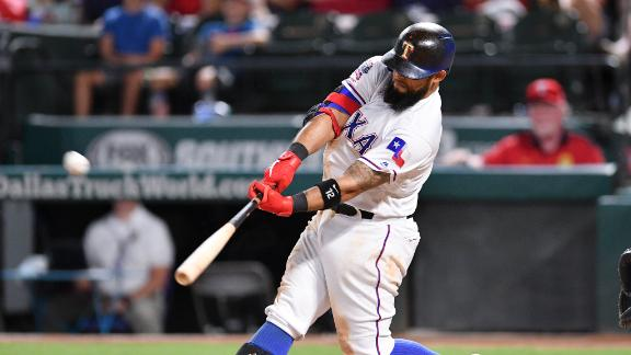 Odor smashes grand slam in Rangers' rout of Yankees