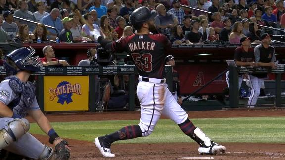 Walker hits 2 homers, including go-ahead grand slam vs. Padres
