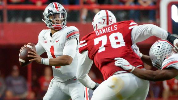 Fields' 4 TDs, OSU's defense fuel blowout of Nebraska