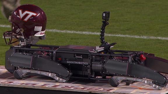 Virginia Tech has robot do pushups on scoring plays