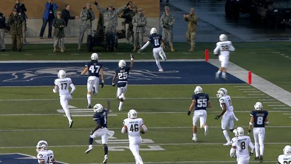 Utah State's Scarver scores 100-yard kick return TD