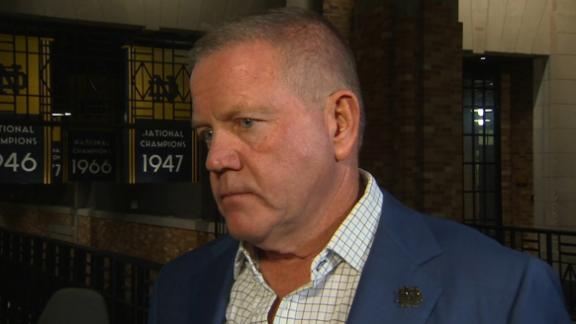 Kelly credits defense for Notre Dame's win vs. Virginia