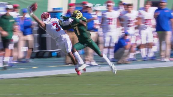 SMU WR makes incredible 1-handed catch