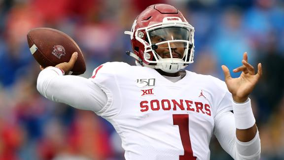 Hurts dazzles with four TDs in Oklahoma's win over Kansas