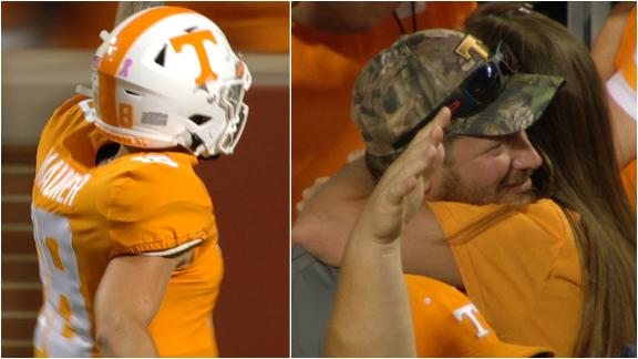 Maurer's mom loves his first career pass for Vols TD