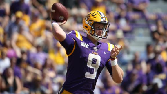 Burrow goes off for 6 TDs in LSU's big win