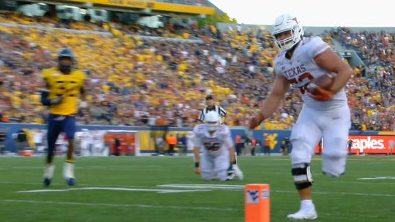 Texas offensive lineman scores TD