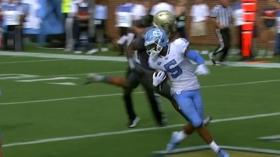 Howell, Newsome connect for 20-yard UNC TD