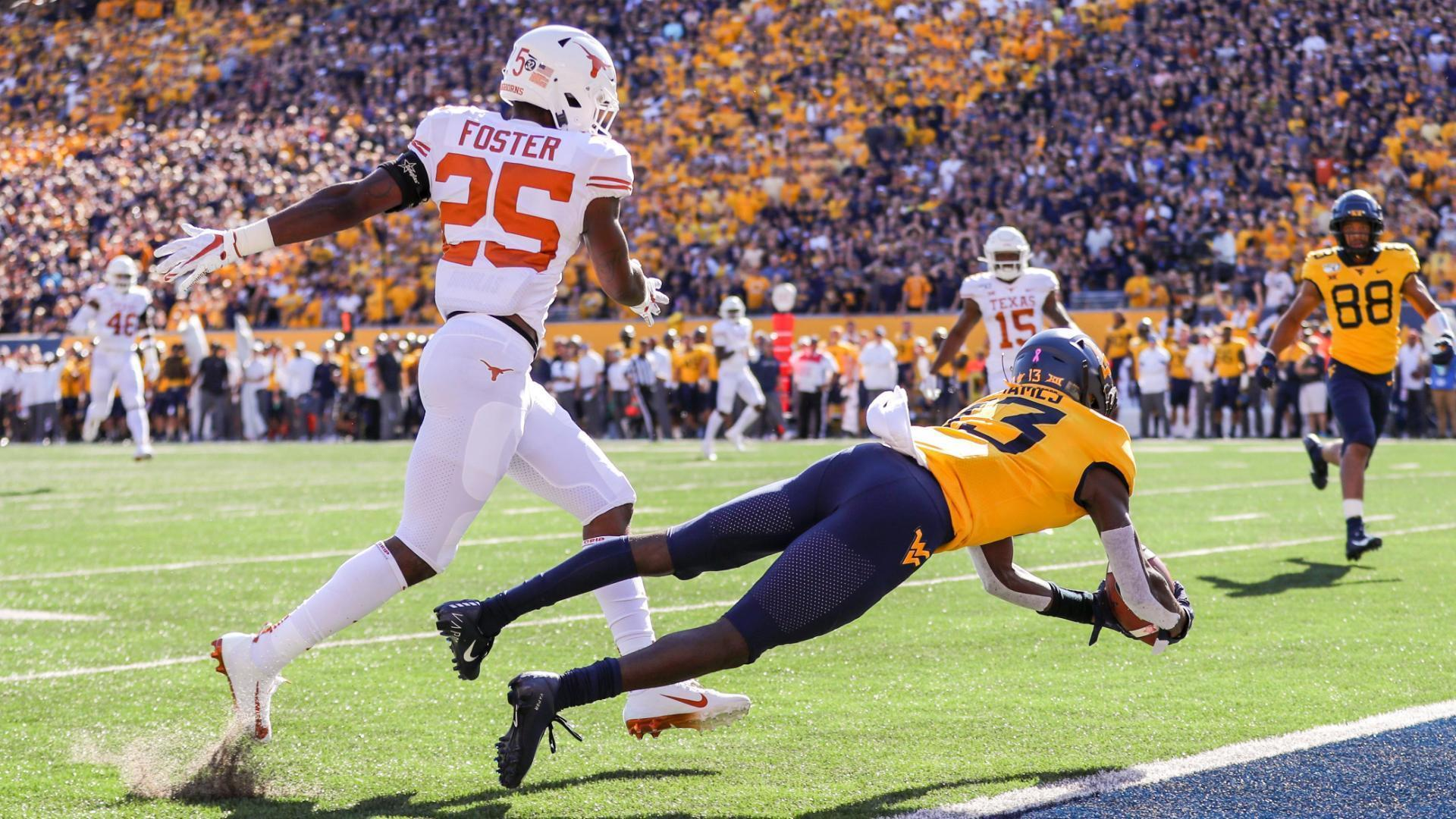James hauls in amazing TD for WVU