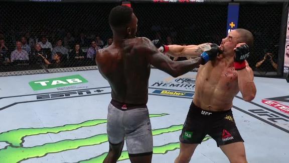 Adesanya nails Whittaker with big right in Round 1