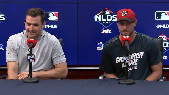 Zimmerman and Scherzer joke about being old guys