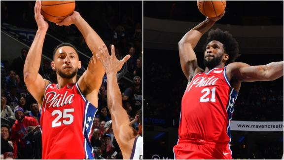 Simmons, Embiid shine in 1st preseason game