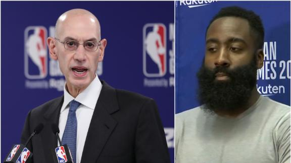 Harden: I'm here for Adam Silver