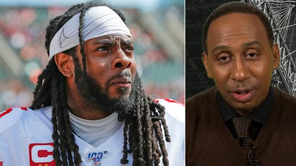 Stephen A.: Sherman calling out Mayfield is laughable