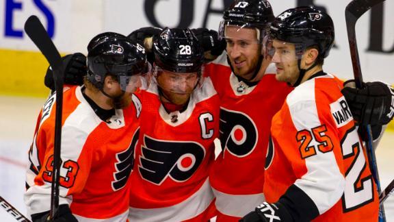 Flyers score 4 goals in shutout of Devils