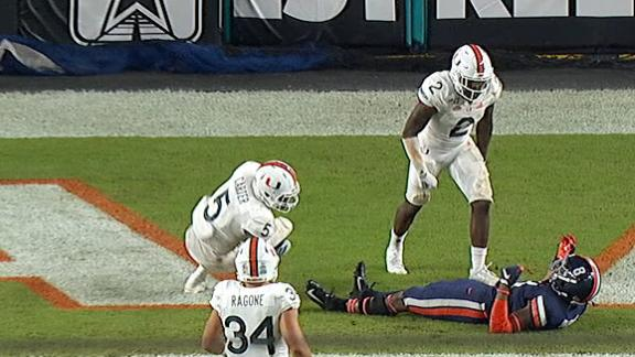 Miami safety ejected for targeting