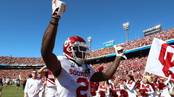 Lamb scores 3 TDs as Oklahoma wins Red River Showdown