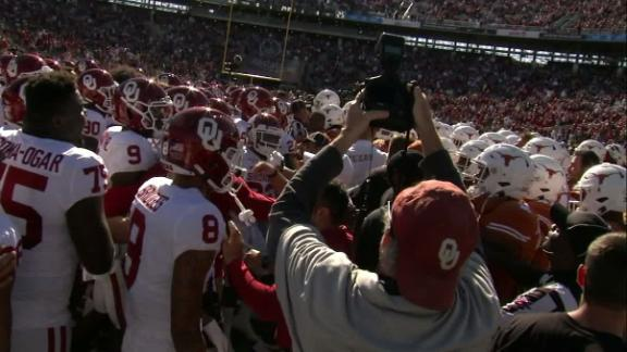 Oklahoma, Texas get heated before Red River Showdown