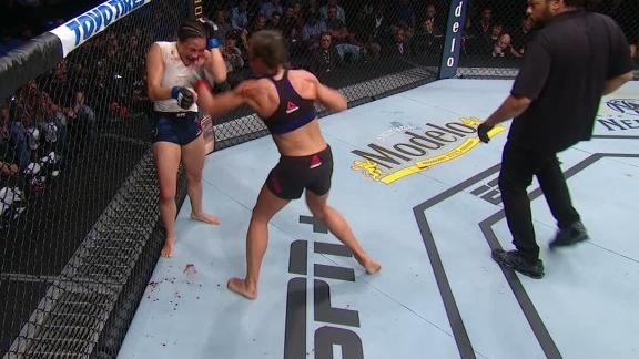 Jedrzejczyk escapes sub attempt, finishes Round 3 strong