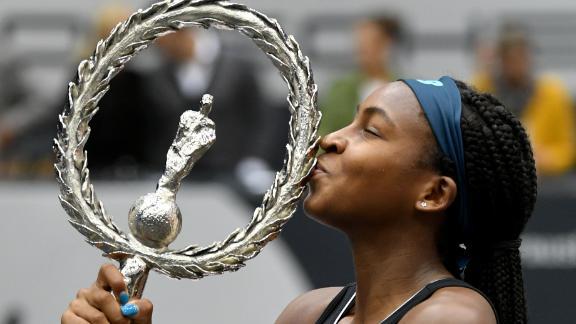 Gauff wins 1st WTA title