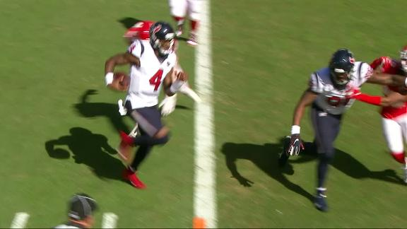 Watson calls his own number with TD scramble